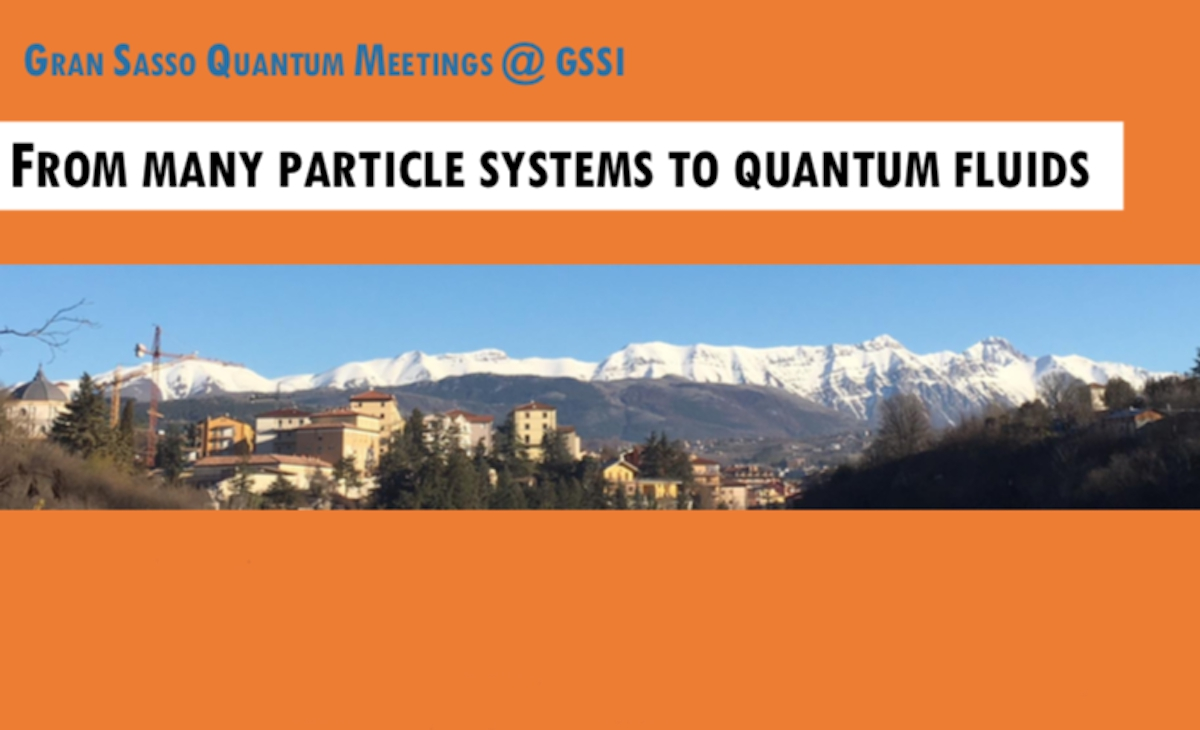 Quantum Meeeting at GSSI: from many particle systems to quantum fluids